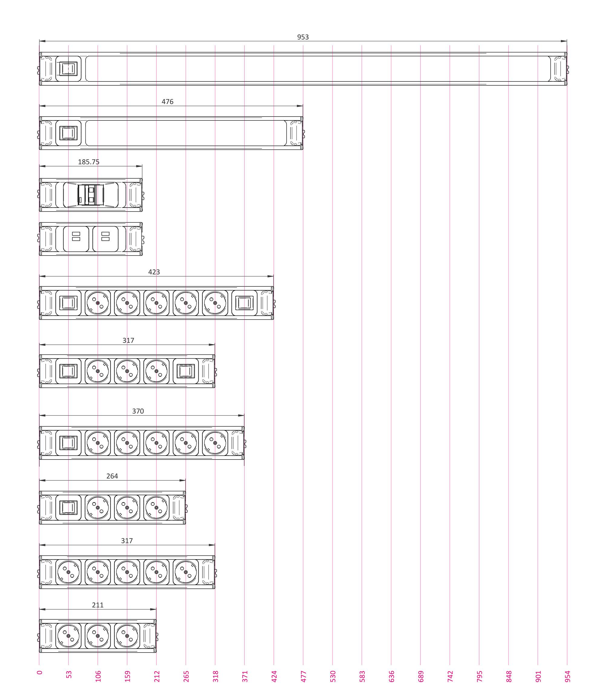 Leuchten und Stecker Modular
